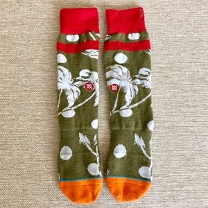Stance men's L-XL Hawaiian flower print socks